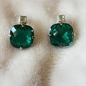 Brighton Lovable Collection Green Crystal Earrings